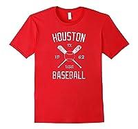 Houston Baseball Vintage Look Distressed 1962 Tshirt Red