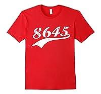 8645 T Shirt Anti Trump Impeach Ts Red