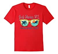 Gulf Shores Beach Alabama Paradise Lost Shirts Red