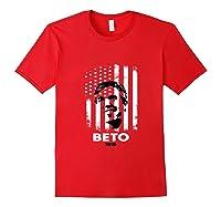Beto O Rourke Usa Flag President Retro Vintage Orourke Gift Tank Top Shirts Red
