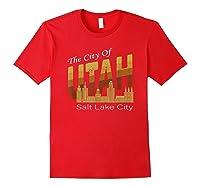 City Of Utah Shirt Salt Lake City Vintage State Gift T Shirt Red