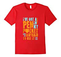 Writers Need Pens Funny Author Tank Top Shirts Red