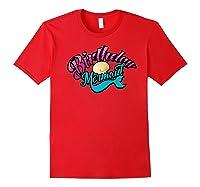 Birthday Mermaid Cool Sirenia Fanatics Gift Shirts Red