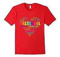 Heart Preschool Team Tea Student Back To School Shirts Red