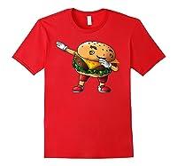 Cool Dabbing Burger Funny Street Dancer Hamburger Lover Gift T Shirt Red