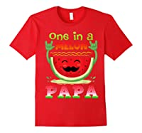 One In A Melon Papa Shirt Funny Watermelon Tee Red
