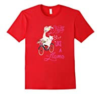 Floral Breast Cancer Awareness Month Figth Premium T Shirt Red