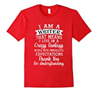 I M A Writer Gift For Authors Novelists Literature Funny T Shirt Red