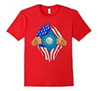 South Dakota Roots Inside State Flag American Proud Shirts Red