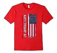 Anti Trump Impeach The 45th President T Shirt Red