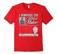 Open Heart Surgery Survivor Widow Maker Heart Attack Shirts Red