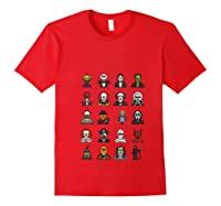 Friends Cartoon Halloween Character Scary Horror Movies T Shirt Red