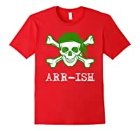 Funny Arrish Sugar Skull St Saint Patricks Day Shirts Gift Red