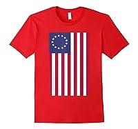 Patriotic 1776 American Betsy Ross Flag T-shirt Red