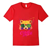 Cool Bear Fun Party Costume Cute Easy Animal Halloween Gift Shirts Red