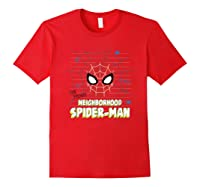 Spider Man Far From Home Friendly Neigrhood Shirts Red