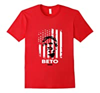 Beto O Rourke American Flag President Usa Distressed Gift Tank Top Shirts Red