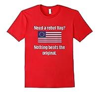 The Original Rebel Colonial Flag T Shirt Red