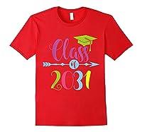Class Of 2031 Grow With Me Kindergarten Graduate Gift T-shirt Red
