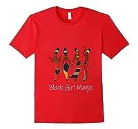 Black Girl Magic Queen Melanin African American T-shirt Red