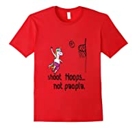 Shoot Hoops Not People Funny Unicorn Back To School Tank Top Shirts Red