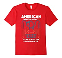 American Wealthcare Act Impeach Trump T Shirt Red