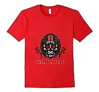Tampa Bay Football Helmet Sugar Skull Day Of The Dead T Shirt Red