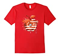 Oklahoma State Cow Nation Flag T Shirt Apparel Red