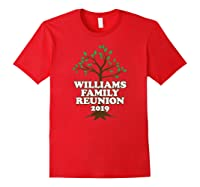 Family Tree 2019 Williams Family Reunion Shirts Red