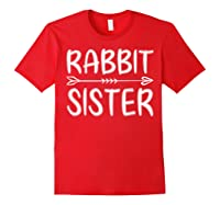 Cute Rabbit Sister Shirt I M Going To Be A Sister T Shirt Red