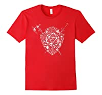 Dragons Dnd Fighter Dungeons Icon Art Tabletop Birthday Gift Shirts Red