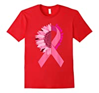 Sunflower Breast Cancer Awareness Month Gift T Shirt Red