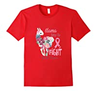 Floral Breast Cancer Awareness Month Here To Fight Tank Top Shirts Red