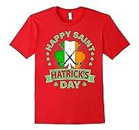 St Patrick S Day Hockey T Shirt Irish Saint Hatrick S Day 01 Red