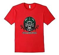 Philadelphia Football Helmet Sugar Skull Day Of The Dead Tank Top Shirts Red