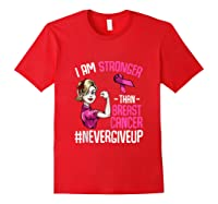 Breast Cancer Awareness Month Shirt For I Am Stronger Tank Top Red