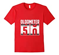 Oldometer 50 50th Birthday 50 Years Old Gifts Shirts Red