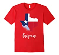 Grapevine Texas T Shirt Lone Star State Texan Gift Red