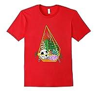 Pastel Goth Geometric Terrarium Skull, Crystals & Succulents Shirts Red