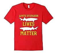 Sturgeon Fishing Shirt Fish T-shirt Gift Red