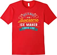 Funny Ice Maker Shirt Awesome Job Occupation Graduation T-shirt Red
