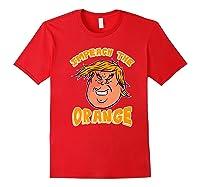 Impeach Donald Anti Trump Orange Emoji Premium T Shirt Red