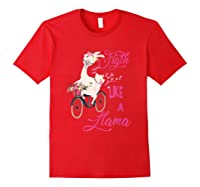 Floral Breast Cancer Awareness Month Figth T Shirt Red