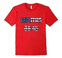 Ex Potus 8645 Anti Trump Distressed Pro Impeach 45 Tshirt Red