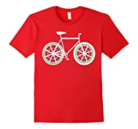 Fixie Single Speed Watermelon Bicycle T Shirt Gift Red