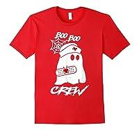 Boo Boo Crew Nurse Ghost Funny Halloween Costume Gift T-shirt Red