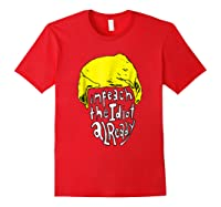 Impeach The Idiot Not My President Impeach Trump Tshirt Red