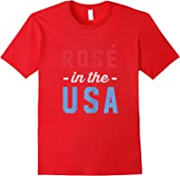Rose In The Usa Cute 4th Of July T-shirt Red