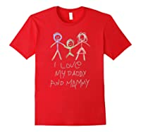Happy Parents' Day Drawing Funny Shirts Red