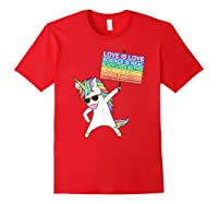 Social Justice Unicorn Equality Protest Human Rights T-shirt Red